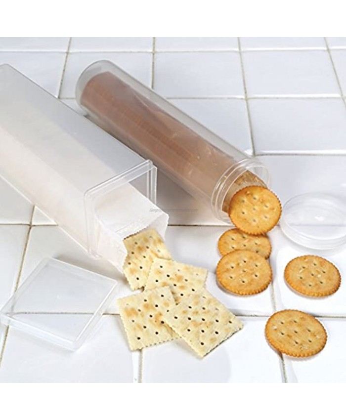 Cracker Keeper Set Round And Square Cracker Container