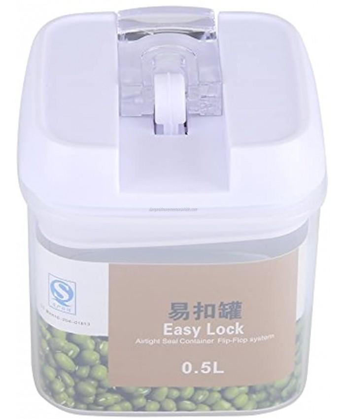 Idalinya Food Storage Box Sealed Food Storage Box Grain Nuts Cereal Transparent Container Kitchen Accessories0.5L