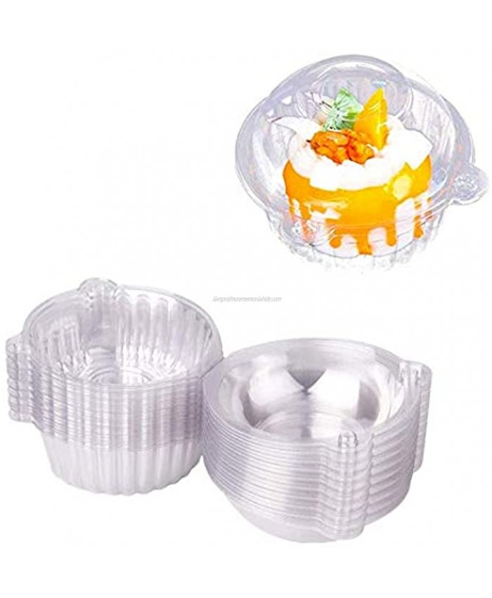 50PackCupcake Boxes-Cupcake Container-Moon Cake box Container -Plastic Single Individual Cupcake Muffin Dome Holders Cake Boxes