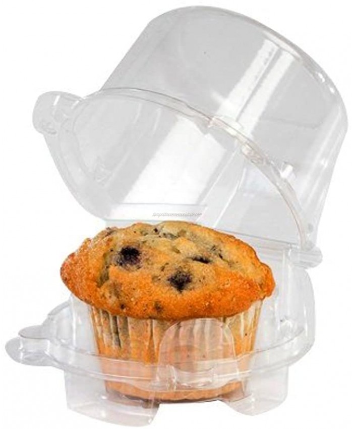 Clear Jumbo Cupcake Muffin Single Individual Dome Container Box Plastic 20 Pieces jumbo size