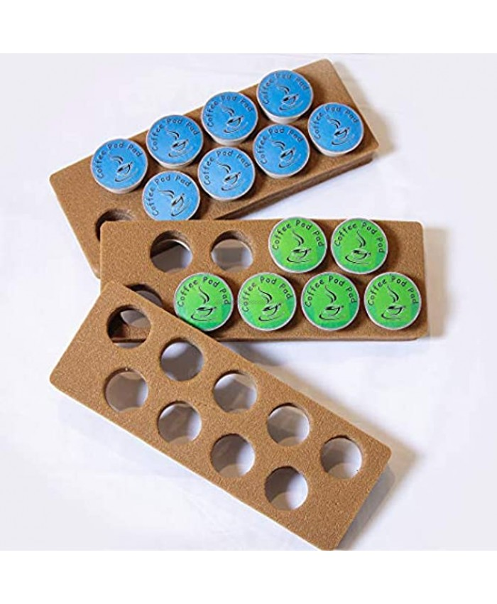 Coffee Pod Pad-Easy Storage Holder Organizer | Inside or Under Cabinets Saves Counter Space in Kitchen Home Office RV | 27 Capacity Compatible With K-Cups