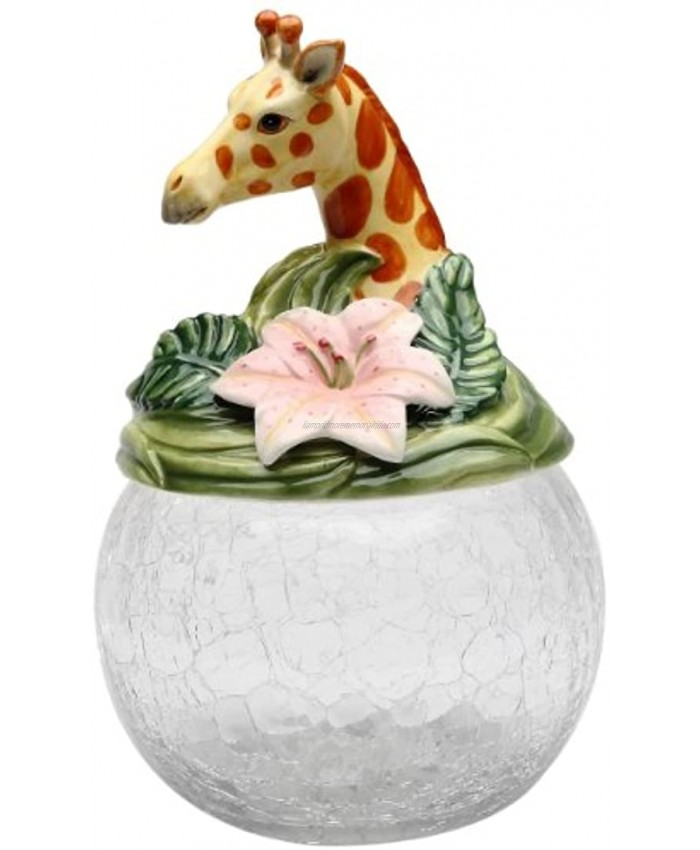 Cosmos Gifts Giraffe Cookie Candy Jar with Ceramic Lid 9-1 2-Inch