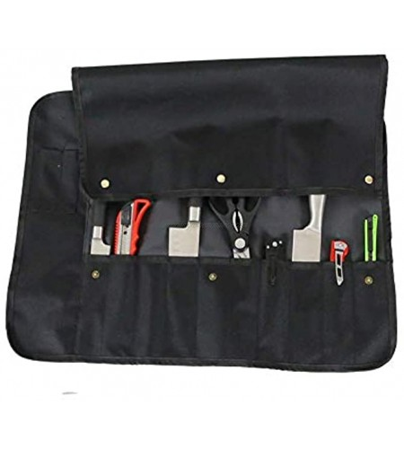 QEES Chef's Knife Roll Bag Canvas Chef Knife Pouch Tool Roll Pouch Storage for Travel BBQ Fishing or Working DD39