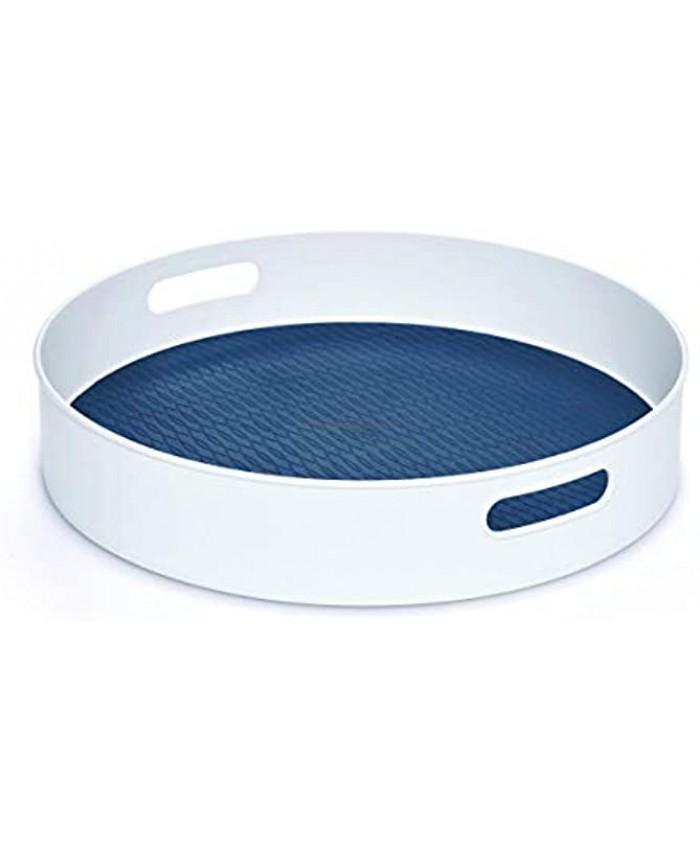 Copco Non-Skid Under-Sink Pantry Cabinet Kitchen Organizer 18-Inch White Steel Blue