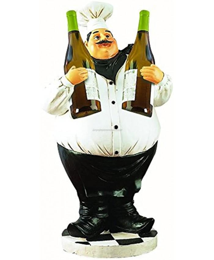 Deco 79 Poly-Stone Chef Wine Holder 24-Inch