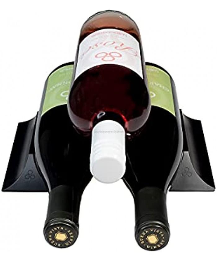 Winebars The Tiny Elegant Flexible Wine Rack That You Can Put Anywhere Jet Black