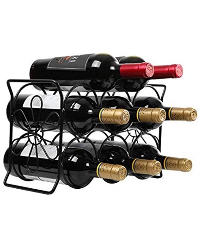 Finnhomy 6 Bottle Wine Rack Black