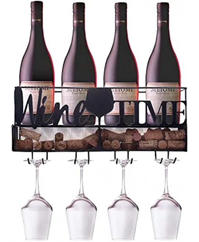 Ranita Home & Style Wine Rack Wall Mounted Wine Rack Wall Wine Cork Holder Wine Shelf Hanging Wine Rack Wine Bottle Holder Wall Wine Rack