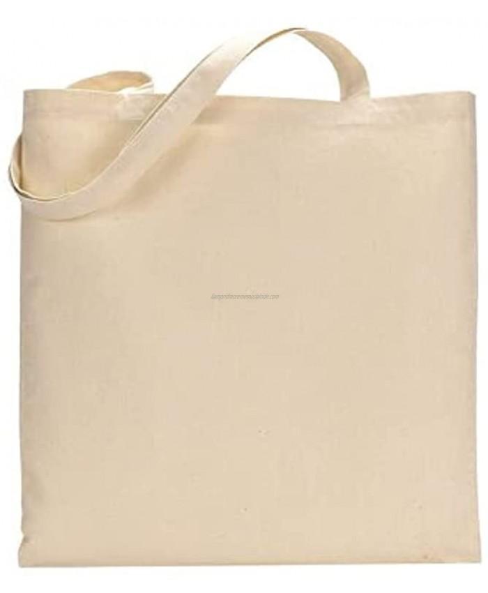TBF Set of 25 twenty five Natural Cotton Canvas Tote Bags! Blank Art Craft Supply Book Print Bulk Lot School! Blank goods