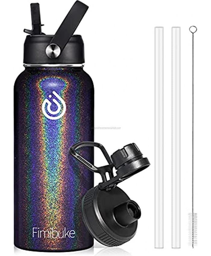 32 oz Insulated Water Bottle BPA-Free MetalWaterBottle with 2 LidsStraw Lid+Spout Lid Sweat-free & Leak Proof 18 8 Stainless Steel Double Wall Vacuum Hot Cold WaterBottle for Men Women