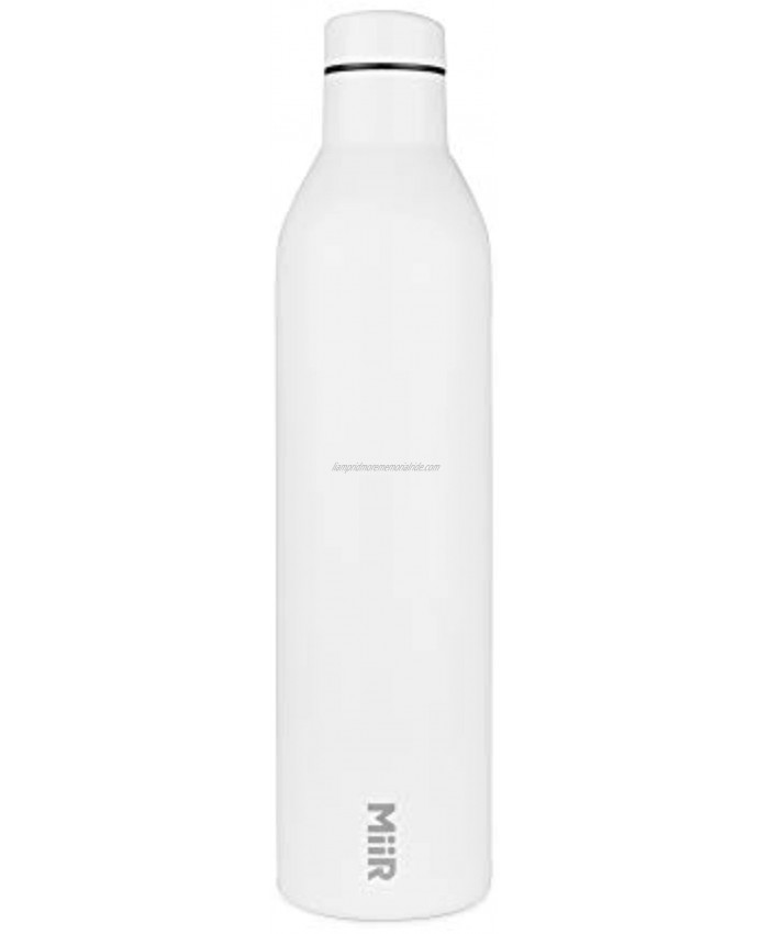 MiiR Insulated Wine Bottle 750ml 25.3oz Double Wall Vacuum Insulated Bottle for Wine or Water with Leak Proof Lid for Camping Picnics BBQ and Home