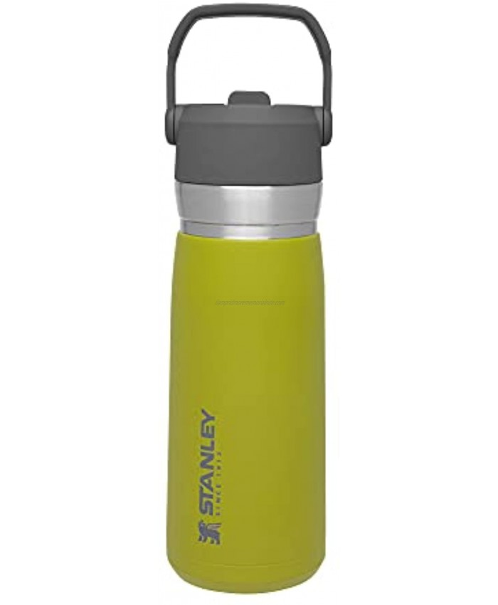 Stanley IceFlow Stainless Steel Bottle with Straw Vacuum Insulated Water Bottle for Home Office or Car Reusable Leakproof Cup with Straw and Handle Aloe 22OZ