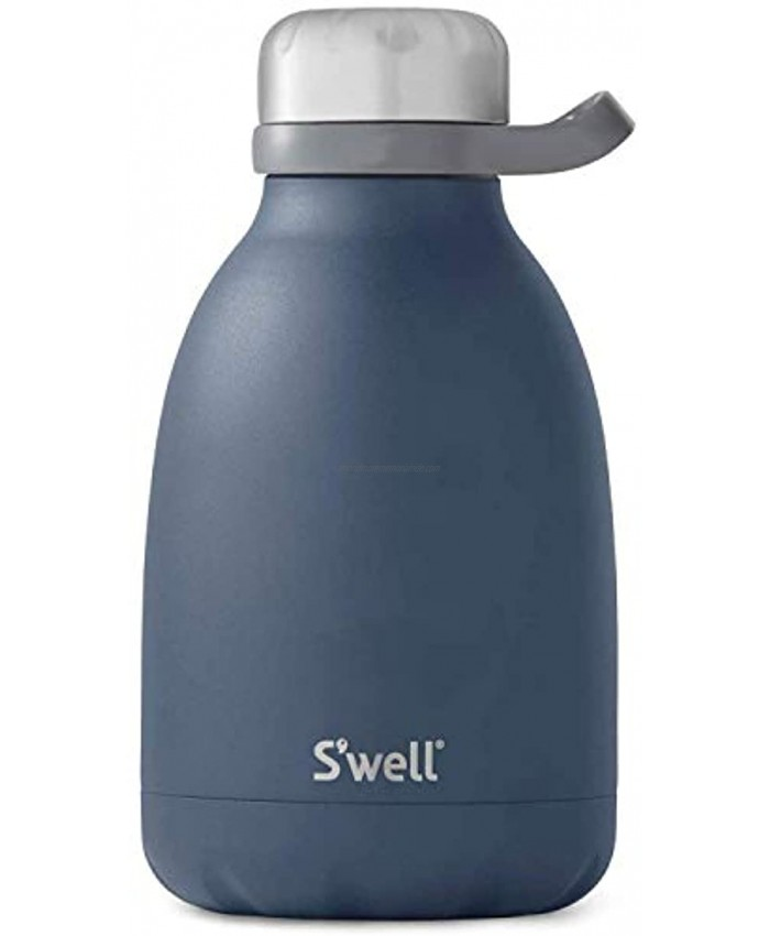S'well Stainless Steel Roamer Bottle 40 Fl Oz Azurite Triple-Layered Vacuum-Insulated Containers Keeps Drinks Cold for 48 Hours and Hot for 16 BPA-Free Travel Water Bottle