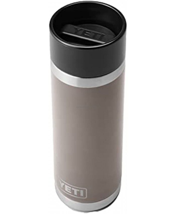 YETI Rambler 18 oz Bottle Stainless Steel Vacuum Insulated with Hot Shot Cap Sharptail Taupe