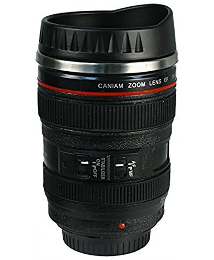 Caniam Camera Lens Coffee Cup Travel Mug Camera Eos 24-105Mm Model Stainless 400Ml Thermos