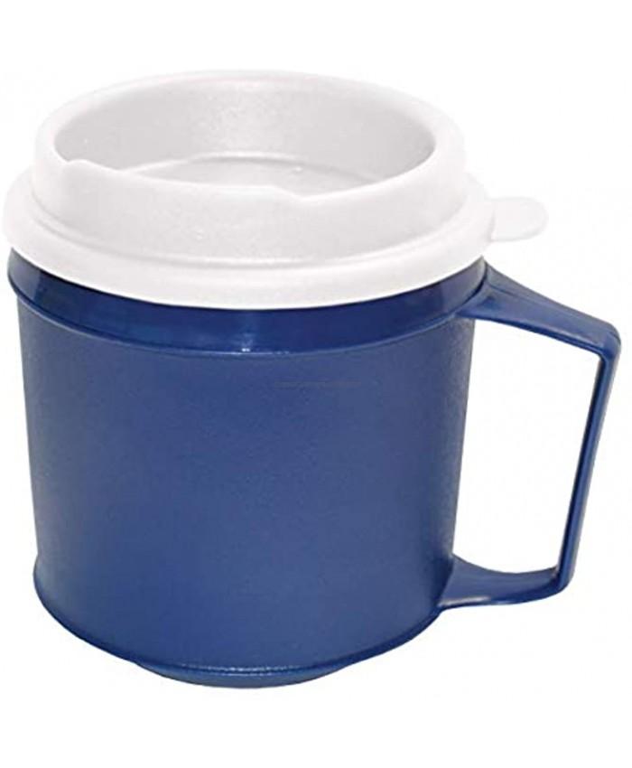 Rehabilitation Advantage Insulated Mug with Tumbler Lid 8oz Blue Non-Weighted