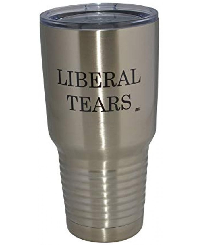 Funny Liberal Tears 30oz Large Stainless Steel Travel Tumbler Mug Cup Gift For Conservative Or Republican Political Novelty