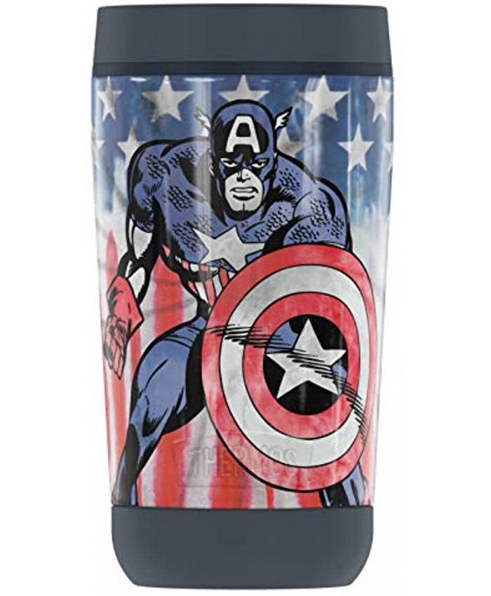 MARVEL Captain America Tie Dye GUARDIAN COLLECTION BY THERMOS Stainless Steel Travel Tumbler Vacuum insulated & Double Wall 12oz