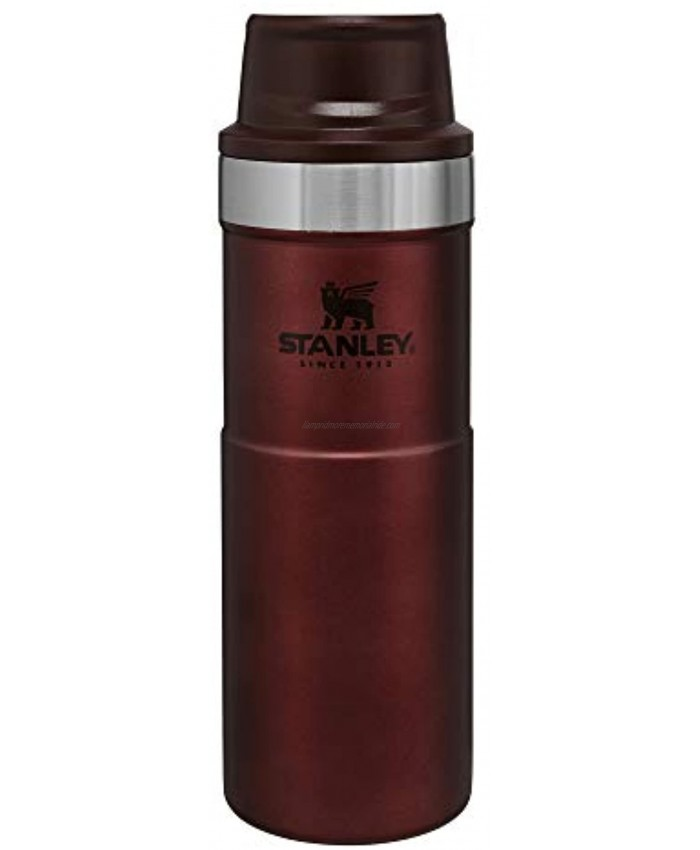 Stanley Classic Trigger Action Travel Mug 12 16 20 oz – Hot & Cold Thermos – Double Wall Vacuum Insulated Tumbler for Coffee Tea & Drinks – BPA Free Stainless-Steel