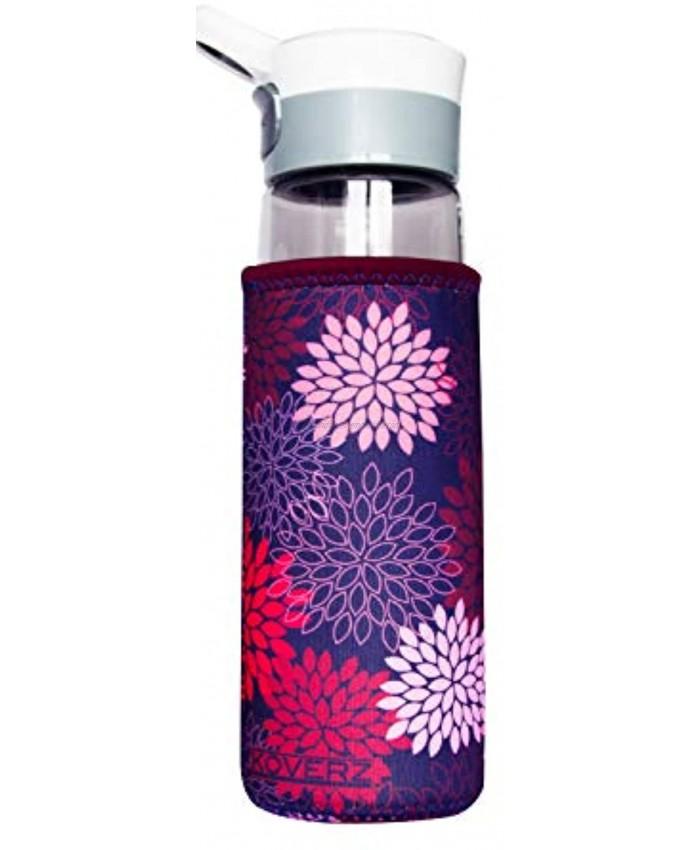 KOVERZ Neoprene 24-30 oz Water Bottle Insulator Cooler Coolie Midnight Mums