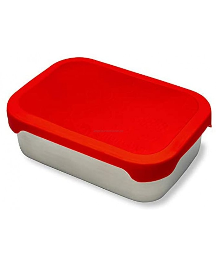 Stainless Steel Bento Lunch Box Food Storage Container with Food-Grade Leak Proof Silicone Lid Metal Snack Lunch Box for Kids and Adults by Lunchet